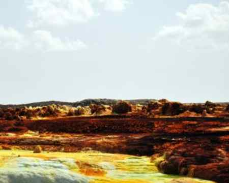 Mitten in der Ähtiopischen Vulkanlandschaft wurde dieses unglaubliche Bild aufgenommen, Ein Vulkan aus dem pure Säure sprudelt.